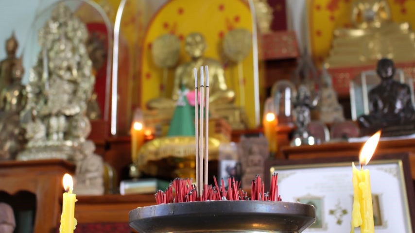 religions : Time lapse - Incense Buddha