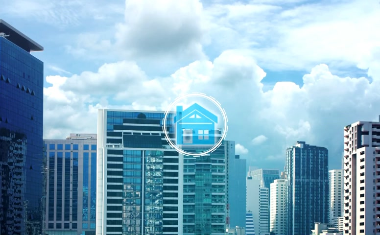 инвестирование : Finger touch with property investment icons over the Network connection on property background, Property investment concept.