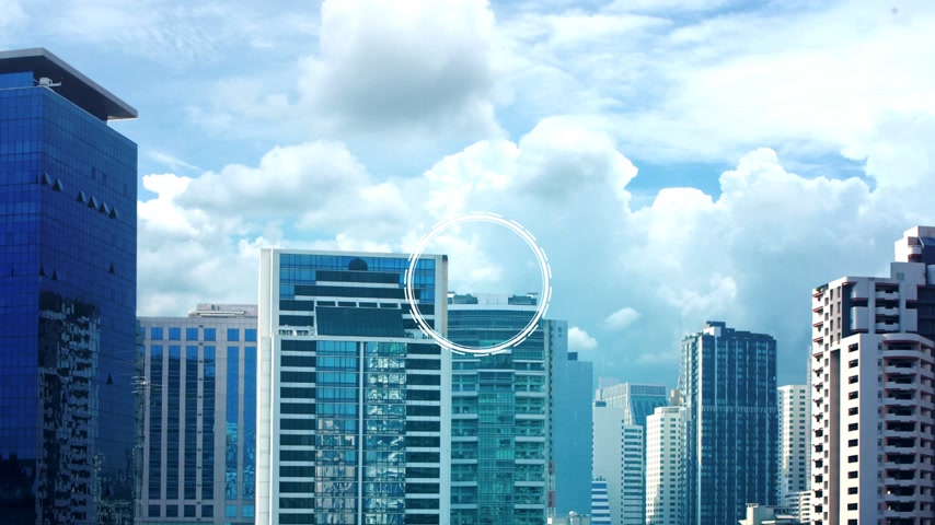 real : property investment icons over the Network connection on property background, Property investment concept.