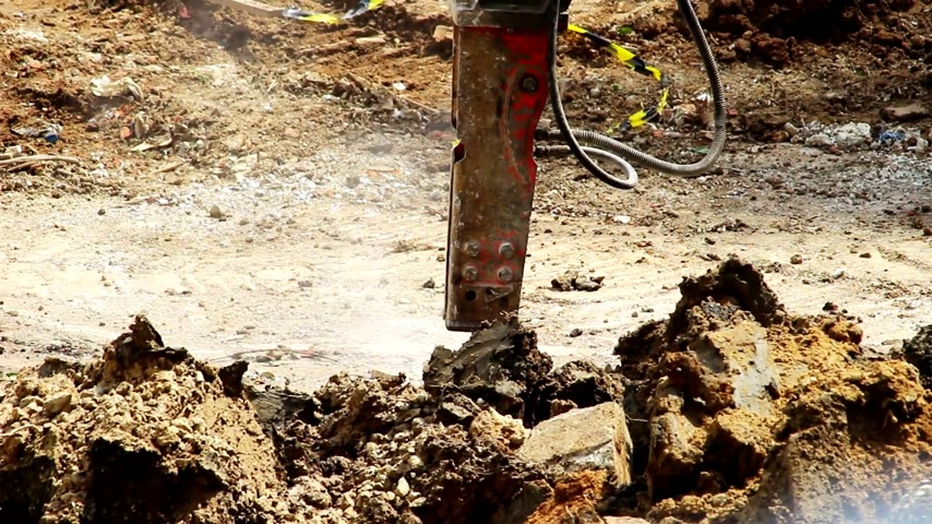 winch : Construction site with work area Stock Footage