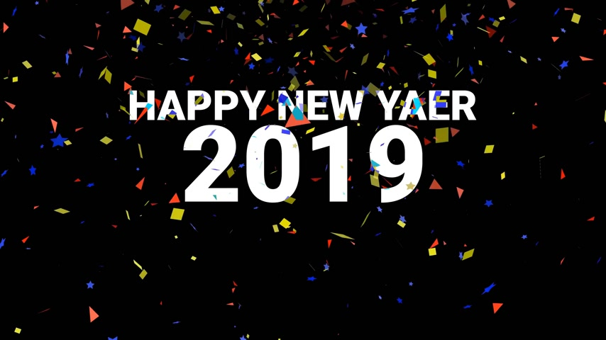částice : celebrate countdown HAPPY NEW YAER 2019 , new yaer concept