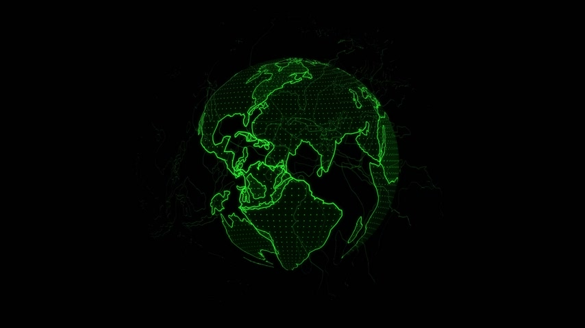 Animation of the earth revolve around, Holographic rendering Earth. Vídeos