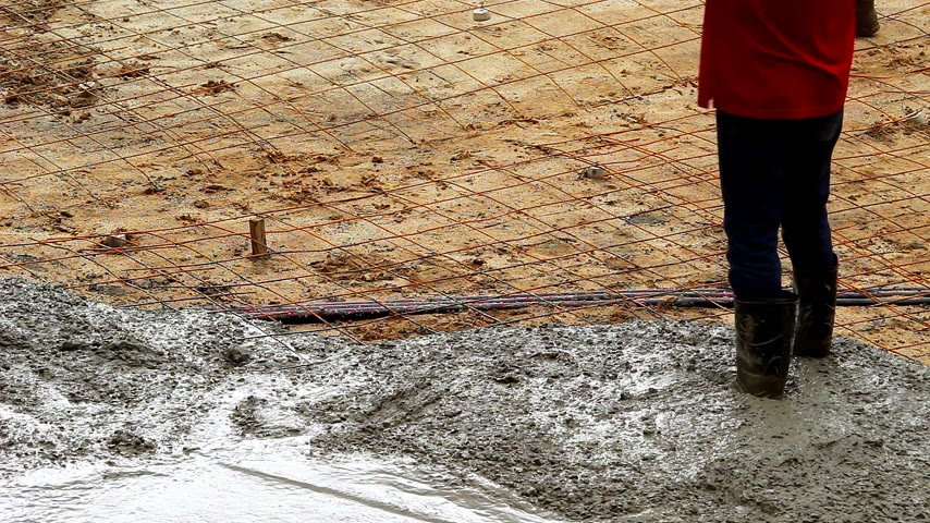 roadworks : Concrete surface works for road maintenance construction.