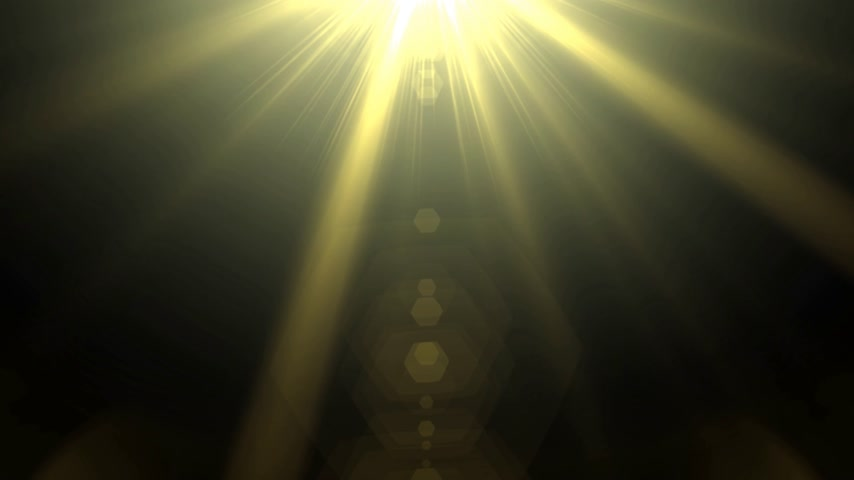 radiante : Gold light effect background, optical flares light effect Stock Footage