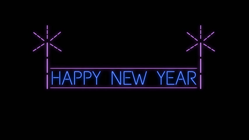 Happy New Year neon sign background new year concept
