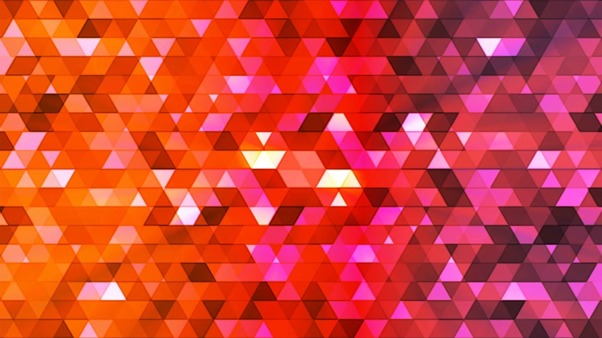 interseção : Broadcast Twinkling Polygon Hi-Tech Triangles, Multi Color, Abstract, Loopable, 4K Stock Footage