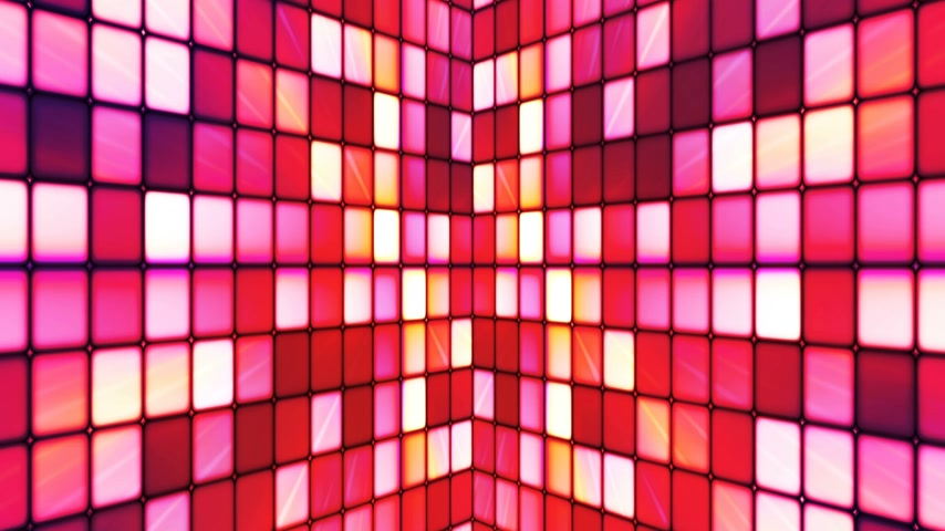 zděšený : Broadcast Twinkling Hi-Tech Cubes Walls, Red, Abstract, Loopable, 4K