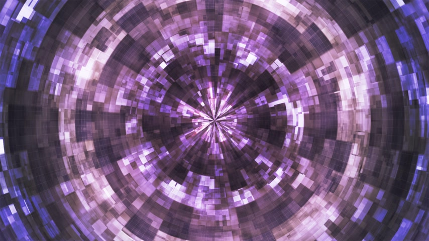 Twinkling Hi-Tech Grunge Flame Tunnel, Purple, Corporate, 4K