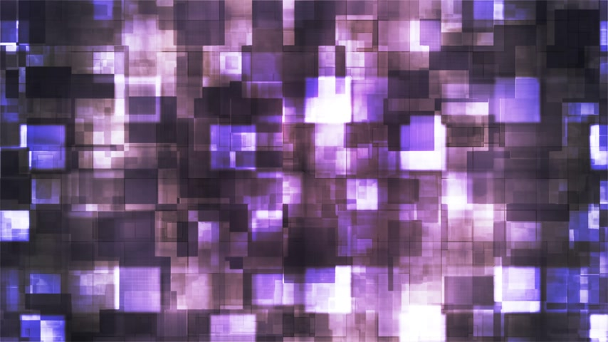 Broadcast Hi-Tech Squared Shifting Patterns, Purple, Abstract, Loopable, 4K