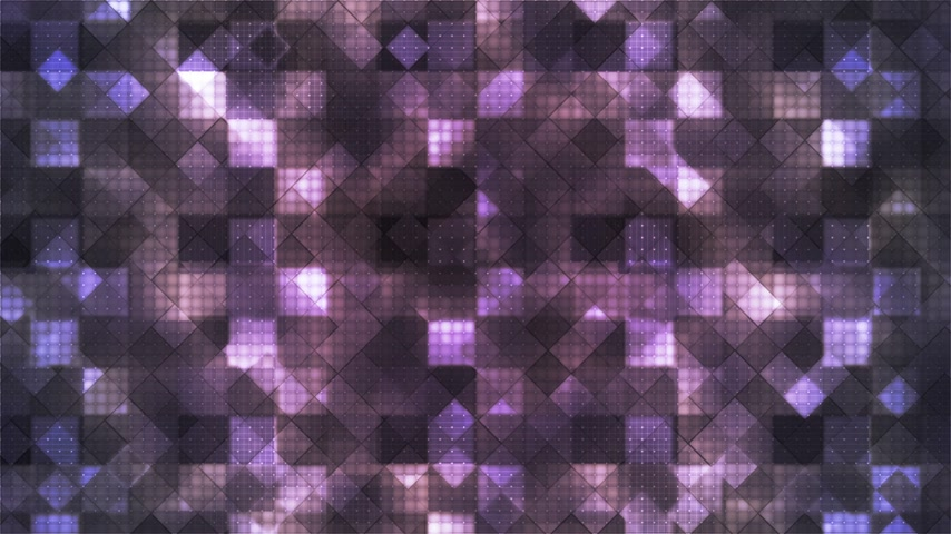 Twinkling Hi-Tech Cubic Diamond Light Patterns, Purple, Abstract, Loopable, 4K