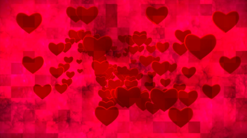 urge : Broadcast Grungy Pulsating Hearts Smoke Squares, Red, Events, 3D, Loopable, 4K