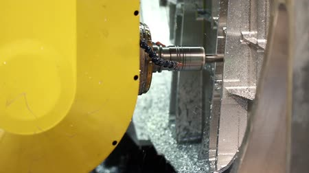 mecânica : Aircraft building. High-tech robotic manufacturing. Grinding of a metal blank.