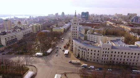 voronezh : Aerial shot of russian city - Voronezh. The urban landscape. Russia. 4K