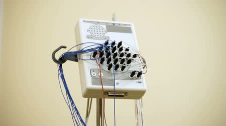 encephalopathy : Electroencephalographic examination. The equipment for receiving the EEG human of the brain. HD