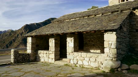 ortodoxia : Architecture of Andorra. The exterior of an ancient catholic church. 4K