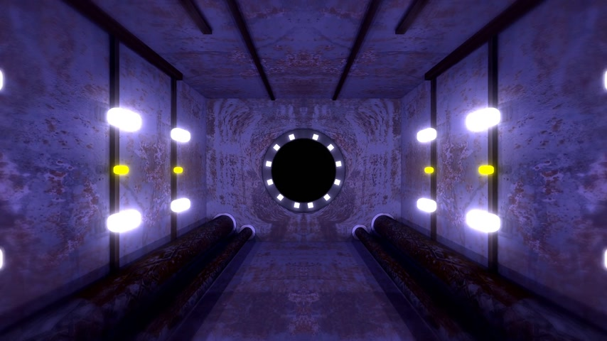Oscuro túnel Antecedentes Animation Loop Archivo de Video