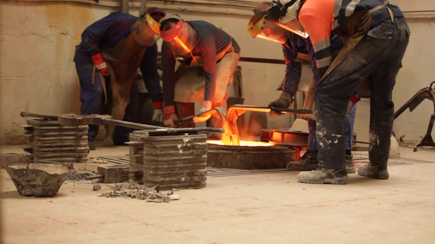 metal casting : Metal forging in a factory