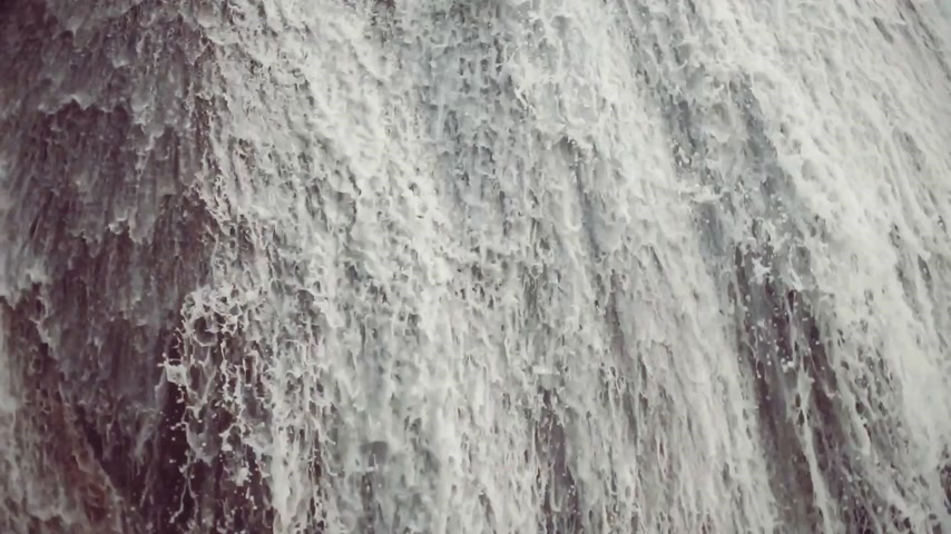 gushing : Natural waterfall Stock Footage