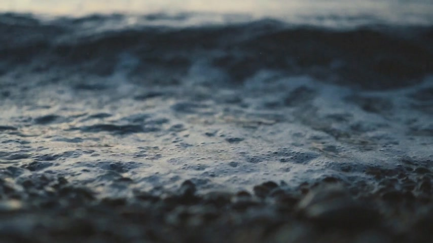 shoreline : Close up of waves washing to the shore Stock Footage