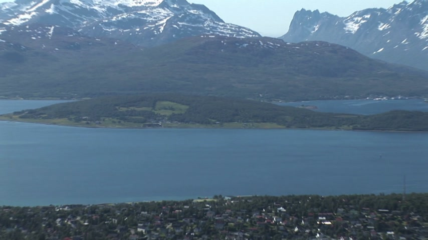 norvégia : Norway - Tromso Panoramic - Travel destination -  Northern Europe Stock mozgókép