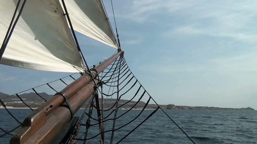 náutico : Nautical vessel - A sailboat mast - Pirate sail ship - Video high definition Vídeos
