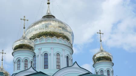 sobor : Golden dome of Cathedral in Ukraine