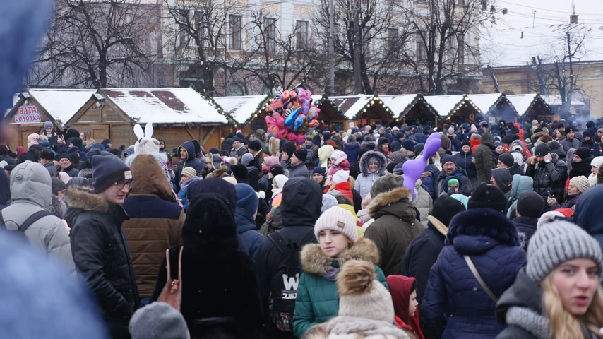 ethnography : Chernivtsi - Ukraine - January 15, 2018 The traditional annual days of Christmas folklore-ethnographic festival Malanka Fest 2018 n the Ukrainian city of Chernivtsi