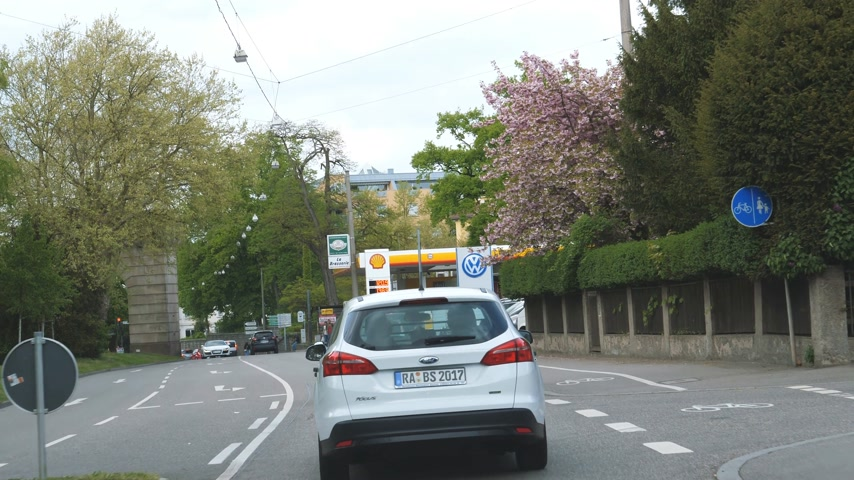 literário : RASTATT, GERMANY - CIRCA 2017: ESSO fuel station in German city. Esso is a trading name for ExxonMobil and its related companies.