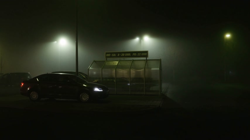 седан : FRANKFURT, GERMANY - CIRCA 2017: Skoda Octavia with female driver leaving parking lot of a large supermarket in Germany Kaufland and Toom Стоковые видеозаписи