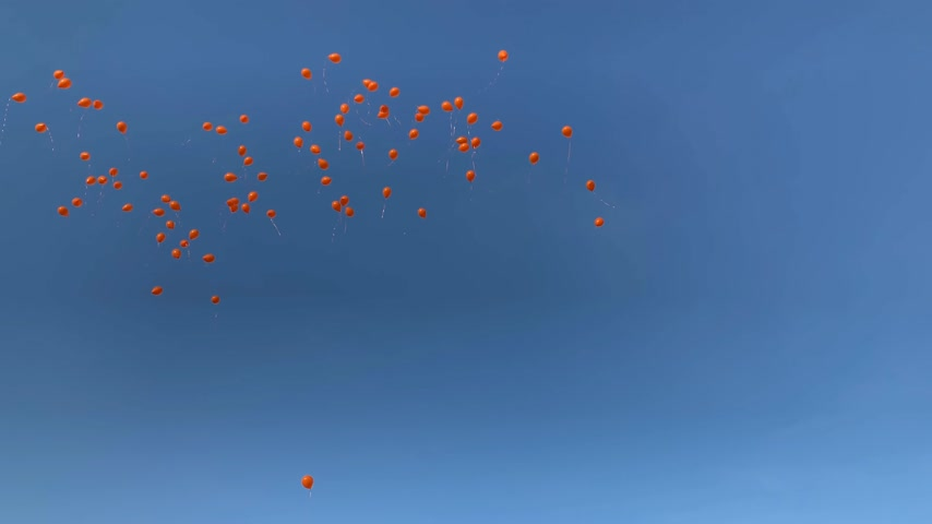 あなたの : Permanent Representation of the Netherlands balloon launch in front of Council of Europe inauguration of the exhibition Open Your Eyes to Human Trafficking view from below