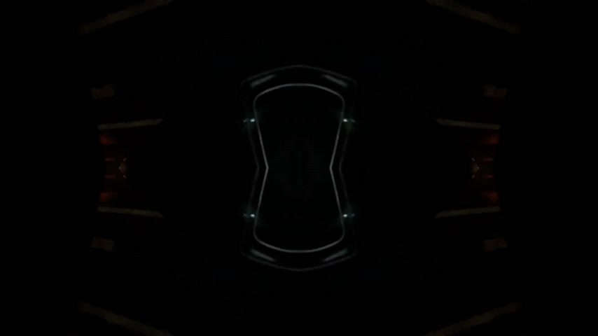 sahte : Abstract inception spaceship  effect - view of the driver at German autobahn with mirrored mind bending sci-fi video manipulation during night drive Stok Video