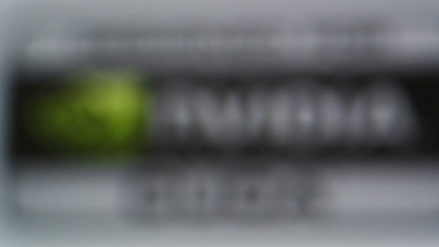CALIFORNIA, UNITED STATES - CIRCA 2014: Focus with tilt-shift lens to Designed for Nvidia Cuda GPU processor as seen on Apple Computers iMac computer