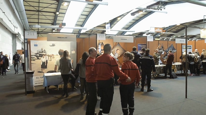 all ages : STRASBOURG, FRANCE - CIRCA 2018: Children and teens of all ages attending annual Education Fair to choose career path and receive vocational counseling - military careers opportunities