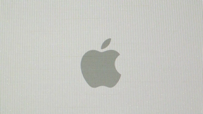 página da internet : CALIFORNIA, UNITED STATES - CIRCA 2014: Apple Computers new desktop computer iMac with Apple logotype disappearing during computer restart