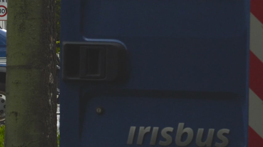 gösterici : Strasbourg, France - Apr 28, 2019: French Police officers gendarmes loading in van boxes with 1330-14-548-9477 hand launcher grenades supply for next altercations Yellow vests protestors