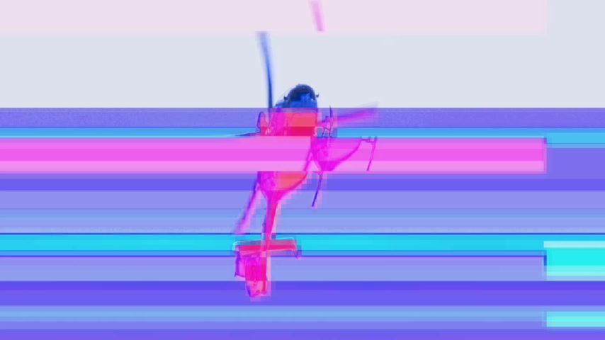 sheriff : Digital glitch bad signal transmission of view from below at the surveilling Gendarmerie French police helicopter during French yellow Vests Gilets Jaunes protest