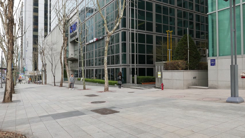 teheran : Gangnam district, few people against office center