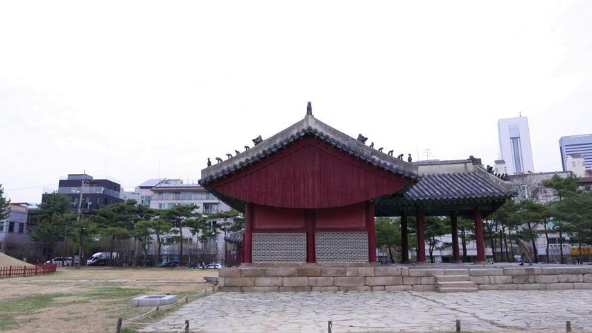 hrobky : Traditional building at historic site, Seoul, South Korea Dostupné videozáznamy