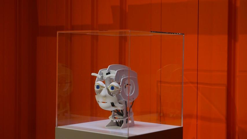 imitace : Robot head express emotions on face