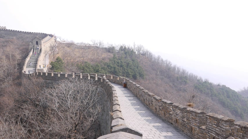 Sightseeing People walk on Great Wall of China