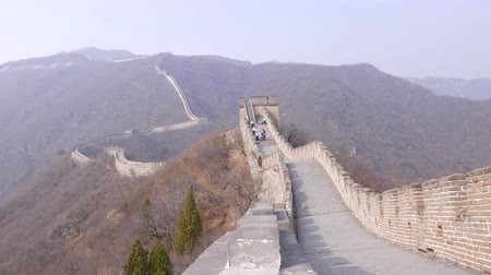 Tourist group on Great Wall of China