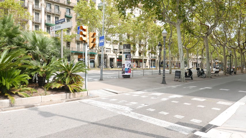 Diagonal avenue panorama, Barcelona