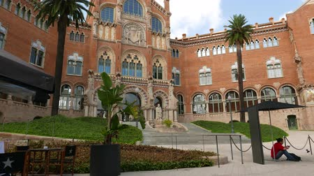 Hospital de Sant Pau, Barcelona Stock Footage