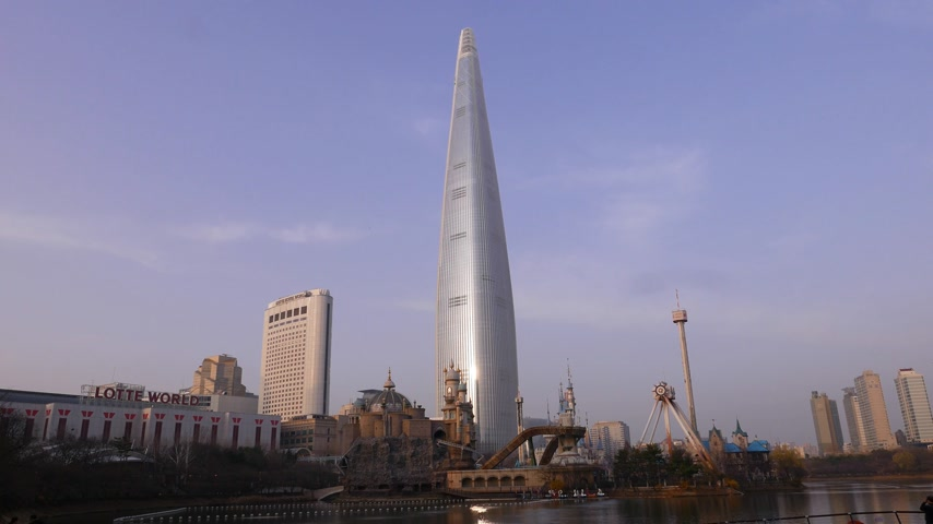 Lotte World Tower and Adventure Park panorama, Seoul, South Korea