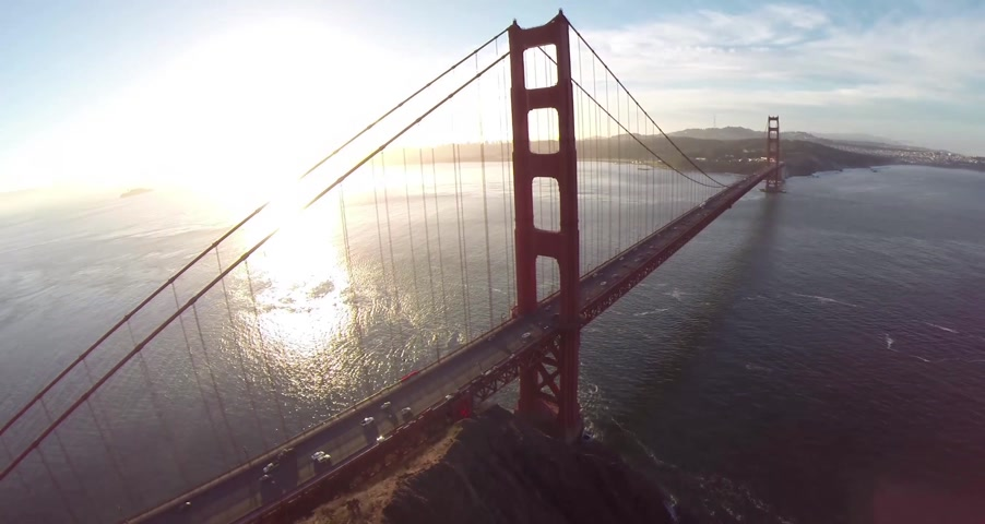 san francisco : Golden Gate Bridge. Aerial shot of the Golden Gate San Francisco, California, North America