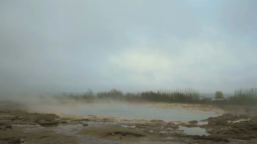 geyser iceland : Strokkur Geyser Eruption. Iceland. Slow Motion Stock Footage