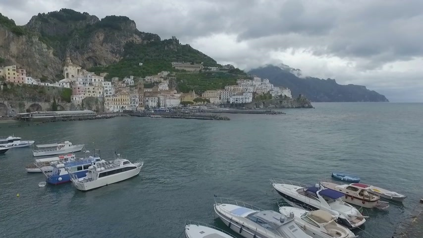 neapol : Amalfi, Italy Aerial video