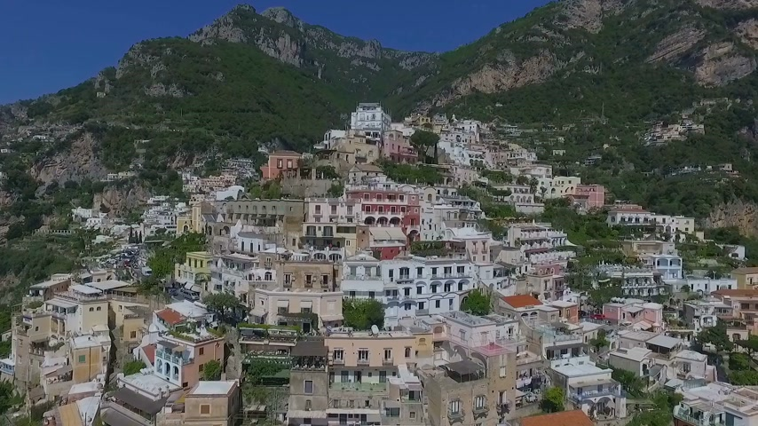 neapol : Positano, Italy Aerial video Wideo