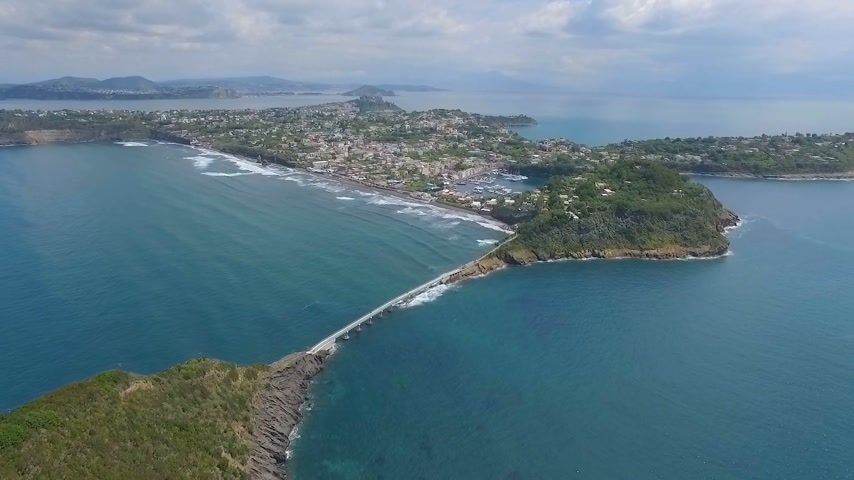 neapol : Procida, Italy Aerial video