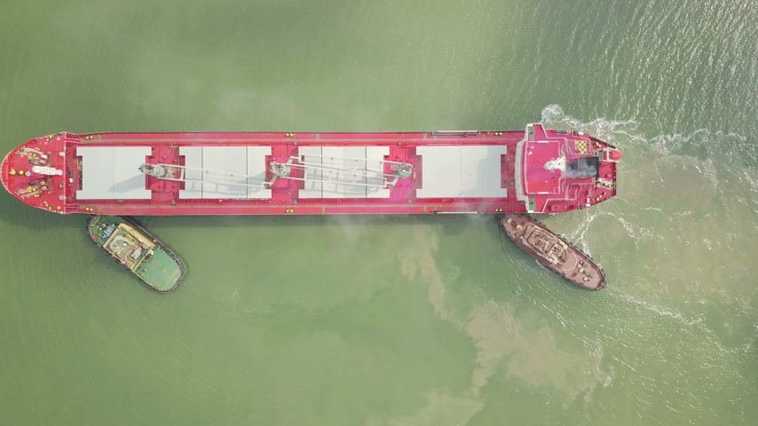odeslat : Aerial shot of big ship in sea